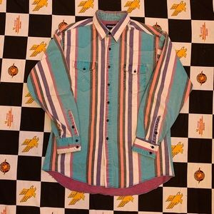 Vintage Wrangler Button Up Shirt Size XL 90s